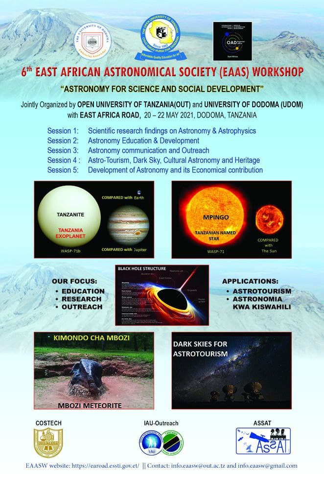 Read more about the article The 6th East African Astronomical Society (EAAS) Workshop